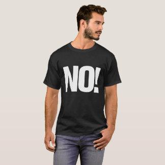 T-shirt Gros caractères NON ! avec de site Web le dos