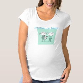 """T-shirt grossesse """"j'aurais un bébé"""""""