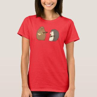 T-shirt Groundhog, hérisson, pièce en t d'ukulélés