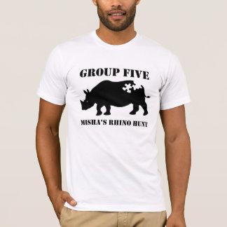T-shirt Groupe cinq de la conception 5