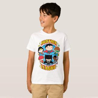T-shirt Groupe de ligue de justice de Chibi