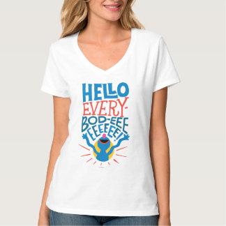 T-shirt Grover bonjour