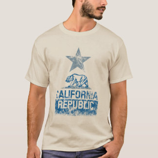 T-shirt Grunge de drapeau d'état de RÉPUBLIQUE de la