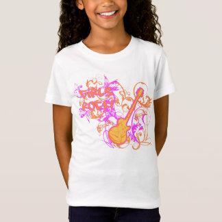 T-Shirt Grunge de guitare de la roche de la fille de KRW