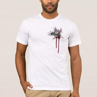 T-shirt grunge de l'Alaska d'éclaboussure de sang