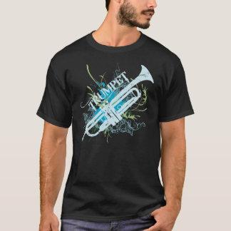 T-shirt grunge de musique de trompette