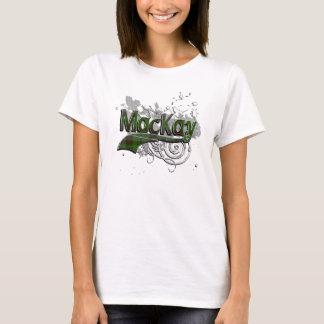 T-shirt Grunge de tartan de MacKay