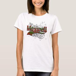 T-shirt Grunge de tartan de Maxwell