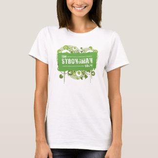 T-shirt Grunge de vert d'exposition d'homme fort