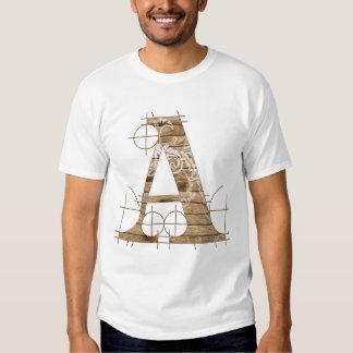 T-shirt grunge en bois