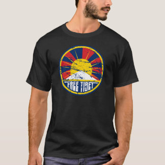 T-shirt Grunge ronde libre du Thibet