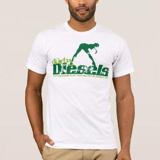 T-shirt Grunge verte de diesel de Durty