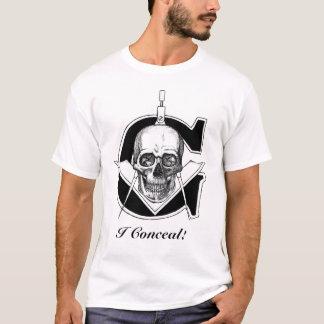 T-shirt Gskullzazzleready1, je cache !