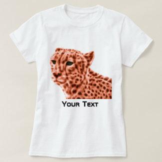T-shirt Guépard d'orange de femmes