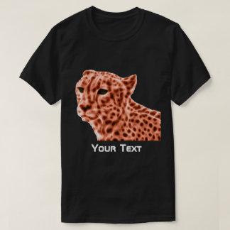 T-shirt Guépard d'orange d'hommes