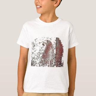 T-shirt Guépard par l'arbre, effet japonais d'art