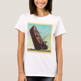 T-shirt Guerre vintage 'Ship de descente de pulpe de