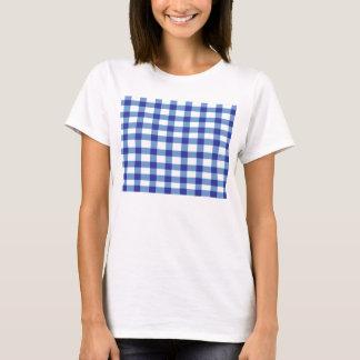 T-shirt Guingan bleu