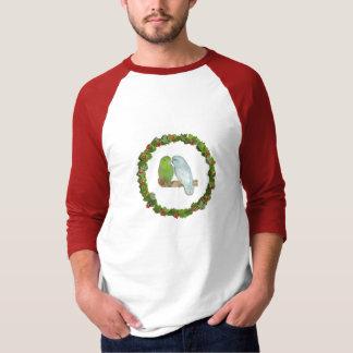 T-shirt Guirlande de Noël de paires de Parrotlet