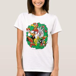 T-shirt Guirlande LOONEY de Noël de groupe de TUNES™