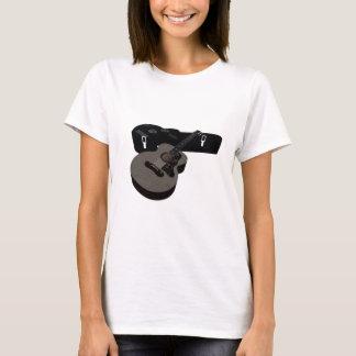 T-shirt guitare 3D acoustique et cas tramés