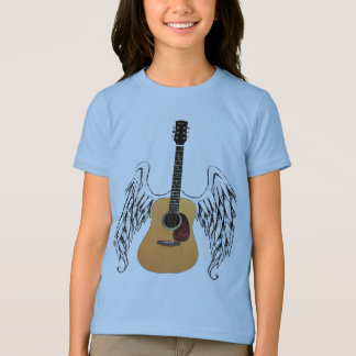 T-shirt Guitare acoustique à ailes