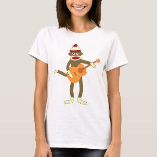 T-shirt Guitare acoustique de singe de chaussette