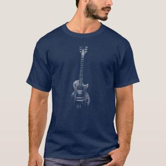 T-shirt Guitare coupée simple d'illustration de texture