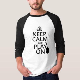T-shirt Guitare - gardez le calme et le jeu sur (chaque