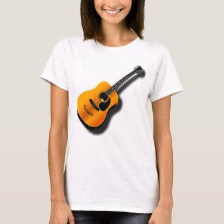 T-shirt Guitare vintage acoustique avec le nom de coutume