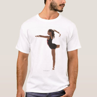T-shirt Gymnaste féminin (12-13) équilibrant sur une jambe