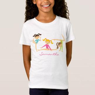 T-shirt gymnastique de filles