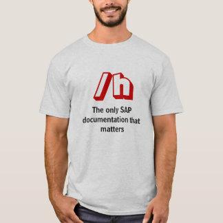 T-shirt /h, la seule documentation de SAP qui importe