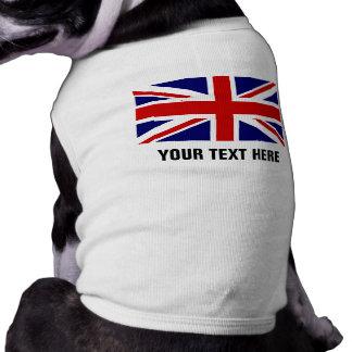 T-shirt Habillement britannique fait sur commande de chien