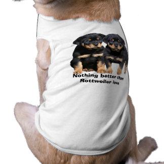 T-shirt Habillement d'animal familier d'amis de rottweiler