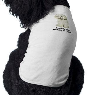 T-shirt Habillement d'animal familier de caniche
