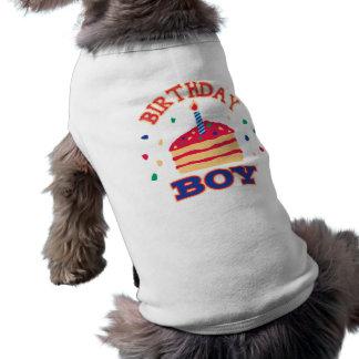 T-shirt Habillement d'animal familier de garçon d'annivers