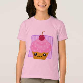 T-shirt Habillement de petit gâteau de cerise de Kawaii