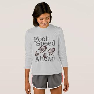 T-shirt Habillement de vitesse de pied en avant