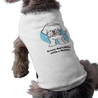 T-shirt Habillement maltais d'animal familier de bande des