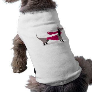 T-shirt Habillement mignon d'animal familier de chien de t