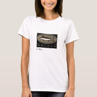 T-shirt Habillement noir des femmes de Marlin bleu et