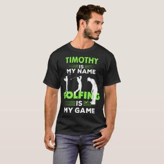 T-shirt Habillement nommé jouant au golf de chemise de