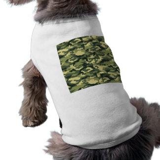 T-shirt Habillement vert d'animal familier d'armée