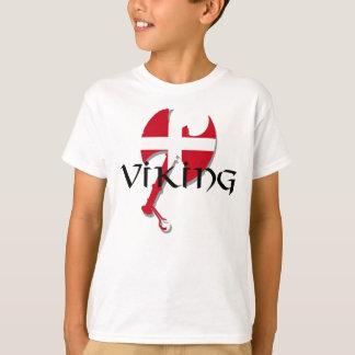 T-shirt Hache de drapeau de Viking Danemark du danois