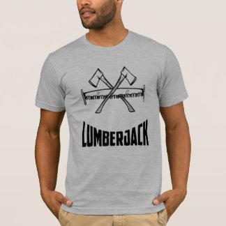 T-shirt Hache et scie d'enregistreur de bûcheron