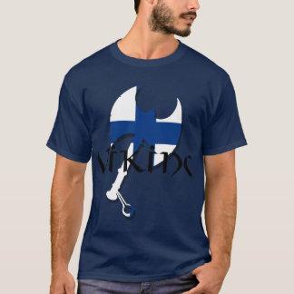 T-shirt Hache finlandaise de Suomi Viking de drapeau de la