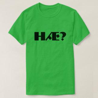 T-shirt Hæ ? c'est ce qui ? en vert norvégien