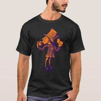 T-shirt Haigha (chapelier fou) a encré l'orange pourpre