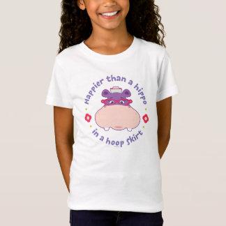 T-Shirt Hallie - plus heureux qu'un hippopotame dans une